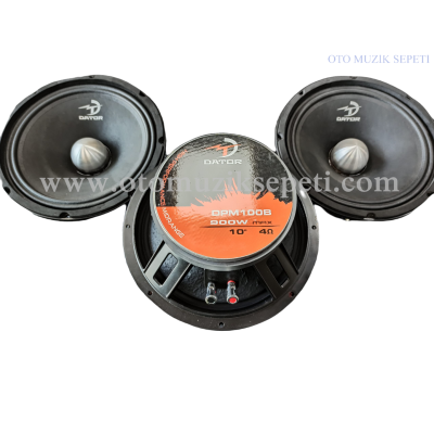 DATOR DPM100 25 Cm Midrange Hoparlör 900 Watt 225 Rms