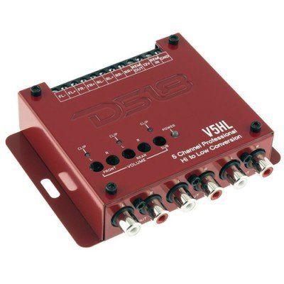 DS18 Deck Çevirici Hi / Lo Dönüştürücü 5 Kanallı, 12 Volt Tetik Çıkışlı
