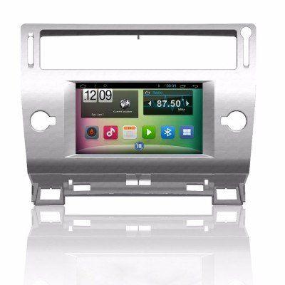 Citroen C4 Android Navigasyon ve Multimedya Sistemi 7 inç Double Teyp
