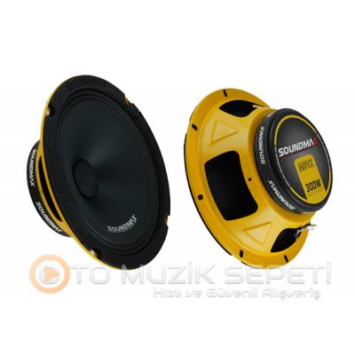 SOUNDMAX SX-M8VX 20 CM MİDRANGE OTO HOPARLÖR