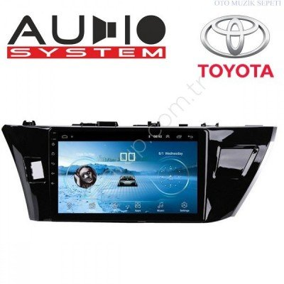 Toyota Corolla Araçlara Android Multimedia Navigasyon Oto Teyp 1+16 Gb