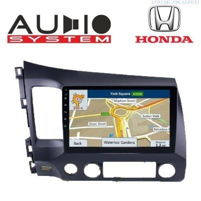 Honda Civic FD 6 Araçlara Android Multimedia Navigasyon 1+16GB